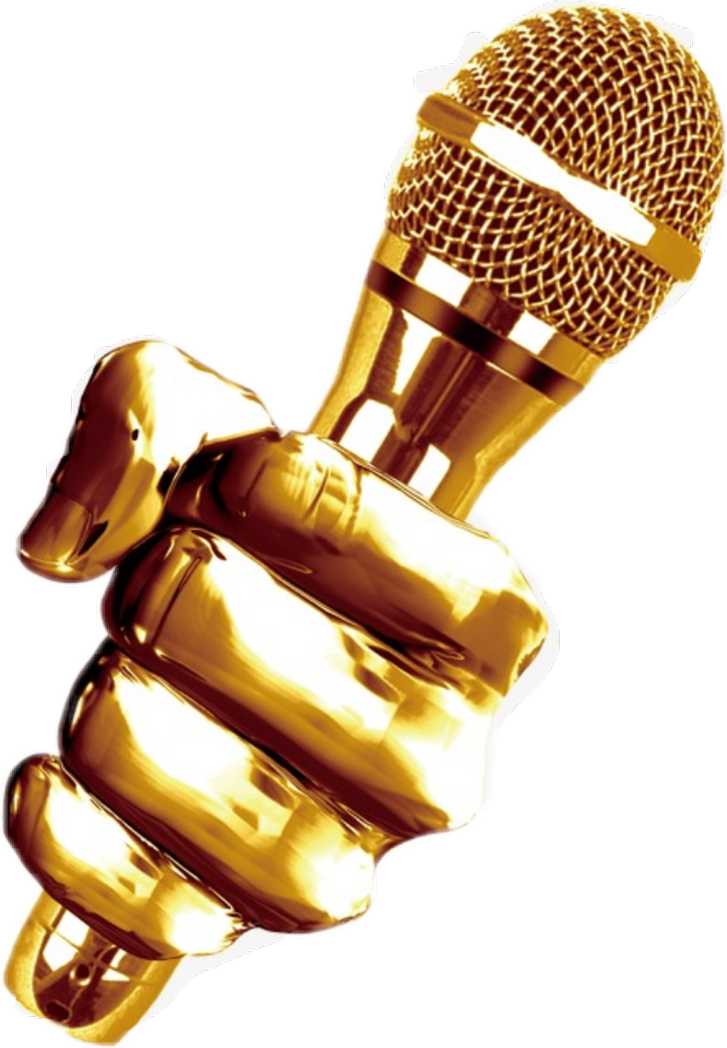 Microphone clipart gold. Golden music onstage dj