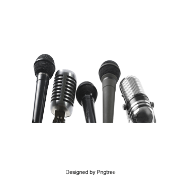 Microphone clipart news. Interview png vectors psd