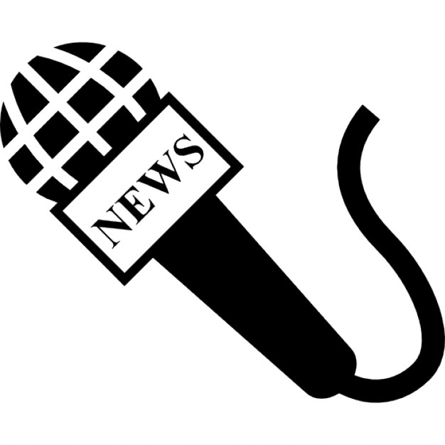 Microphone clipart news. Of reporter icons free