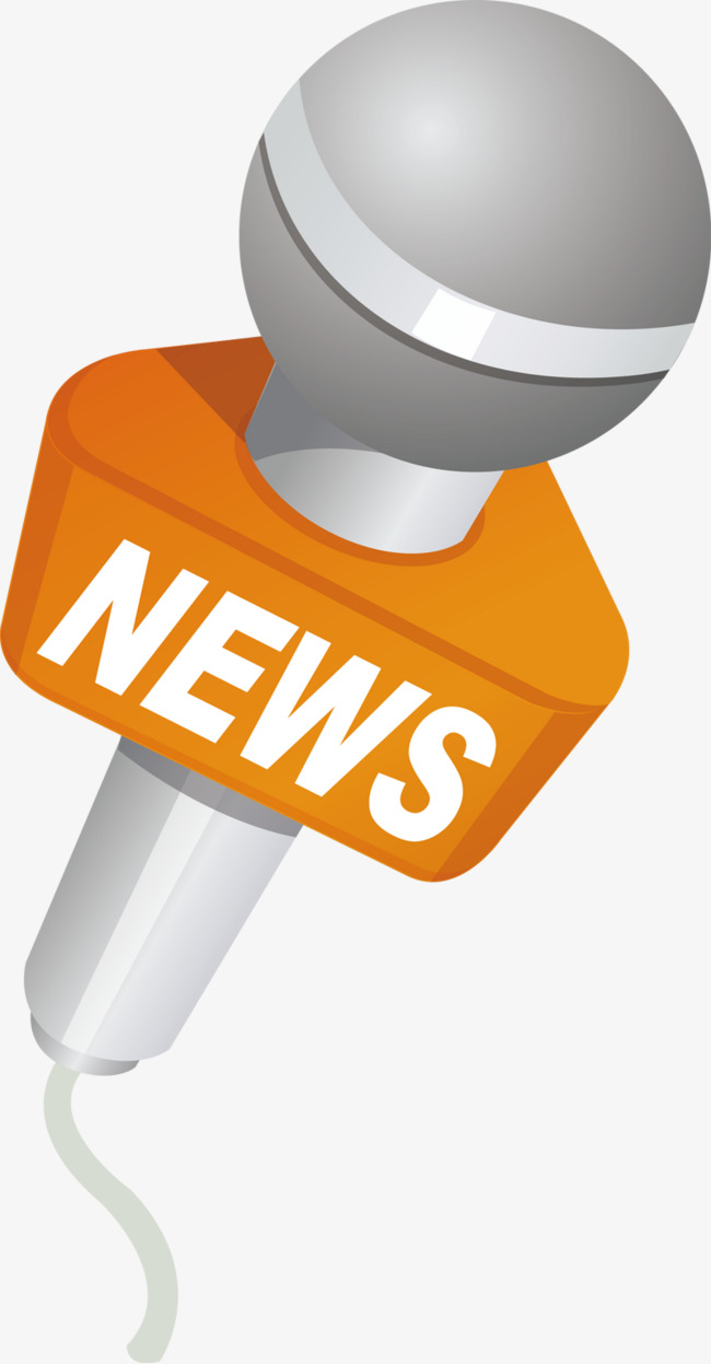 Microphone clipart news. Media textured png image