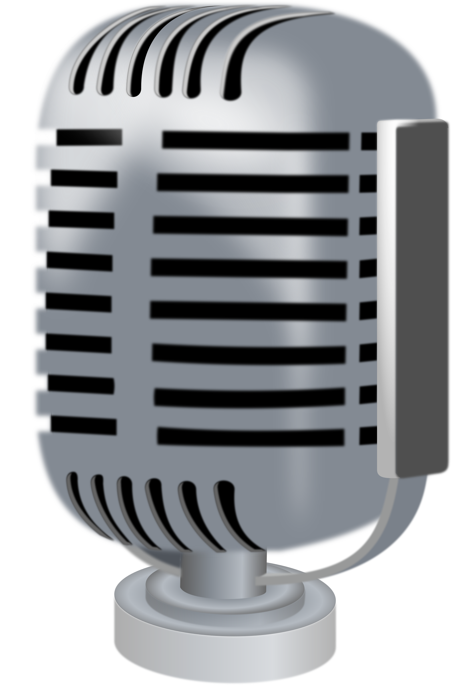 Microphone clipart pdf. Old style big image