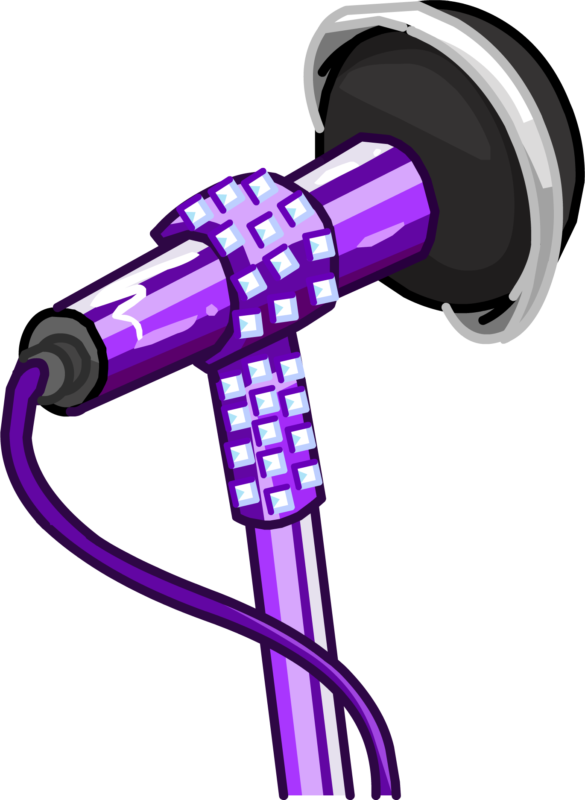 Microphone clipart purple. Free black and white