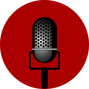 vector outline microphone