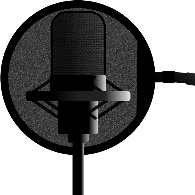 mic in recording booth png