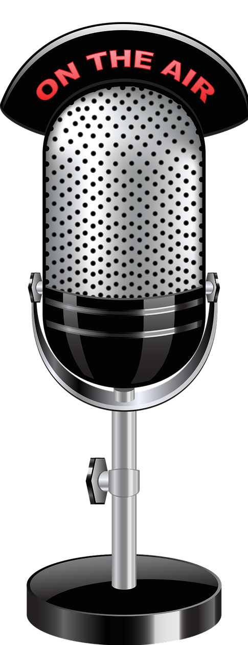 Microphone clipart radio show. Up to the mic