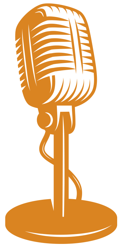 Microphone clipart talk show. Let s think on