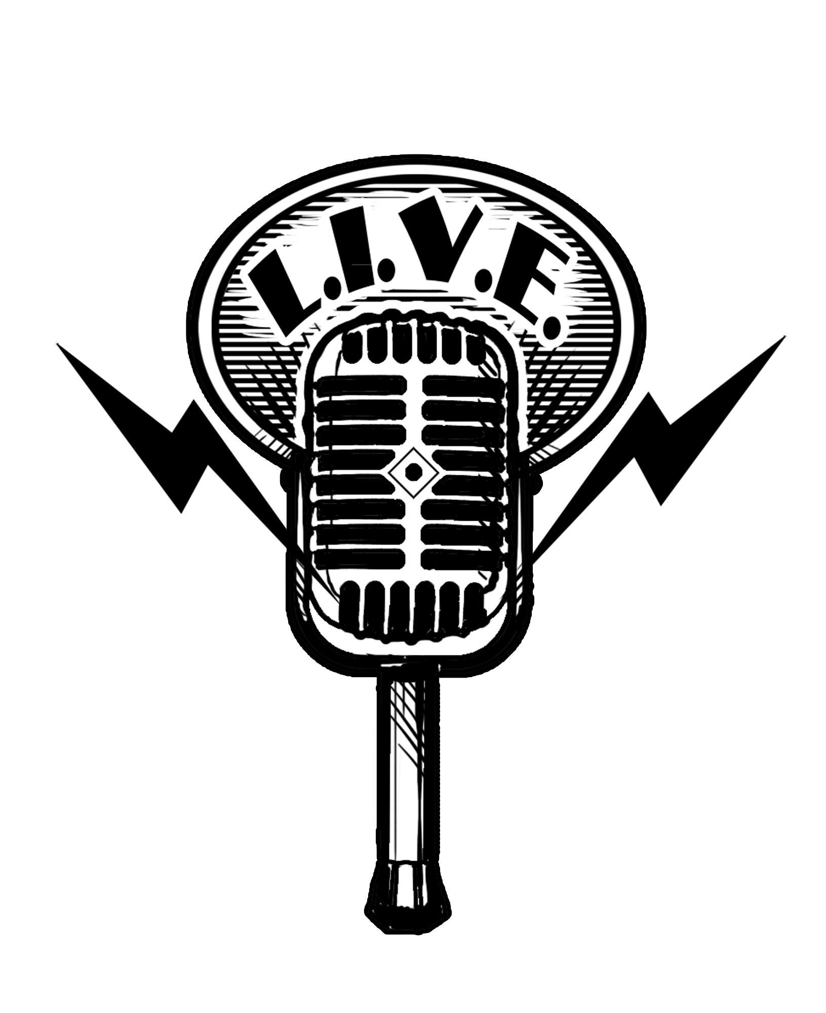 Microphone clipart talk show. Radio mic logo png