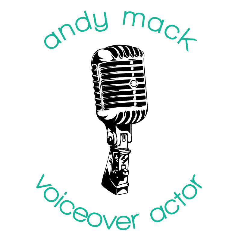 Microphone clipart voice actor. Andy mack voiceover