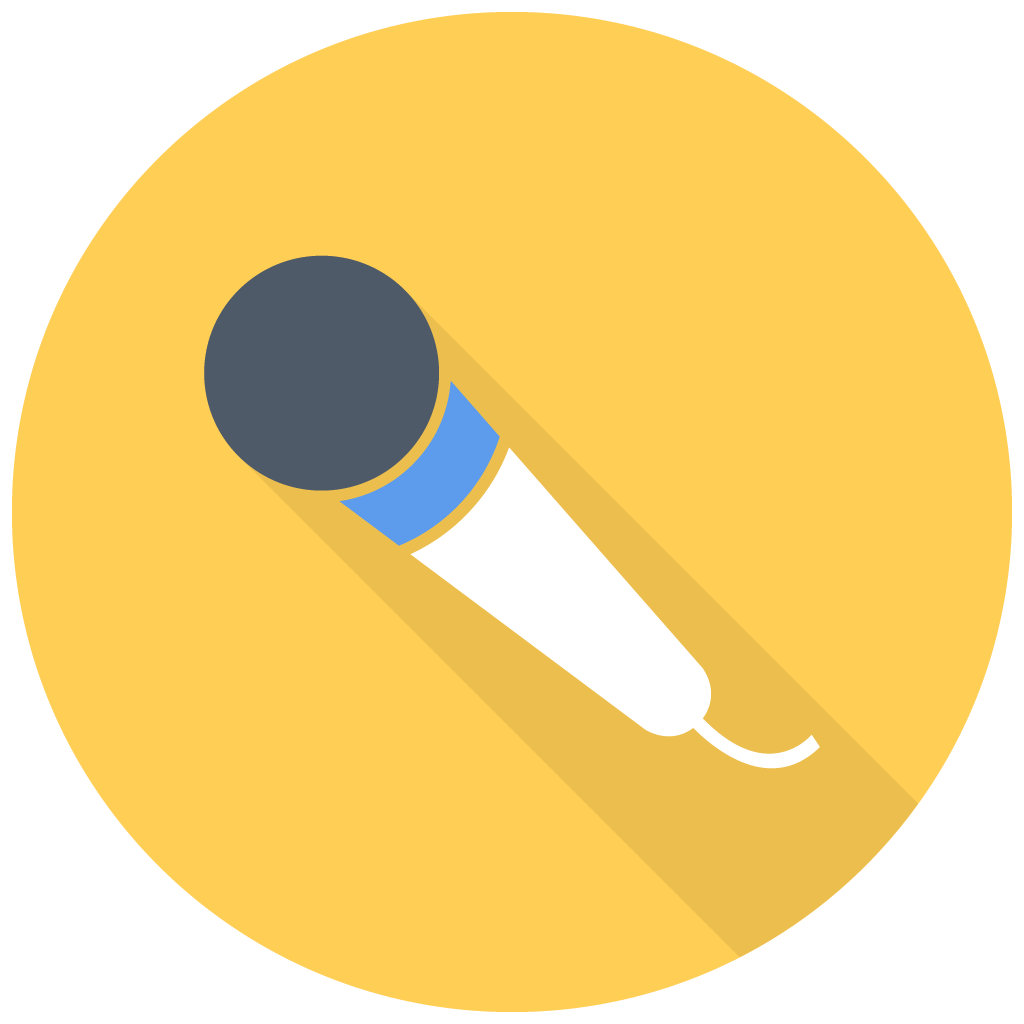 Microphone clipart yellow. Free icon download