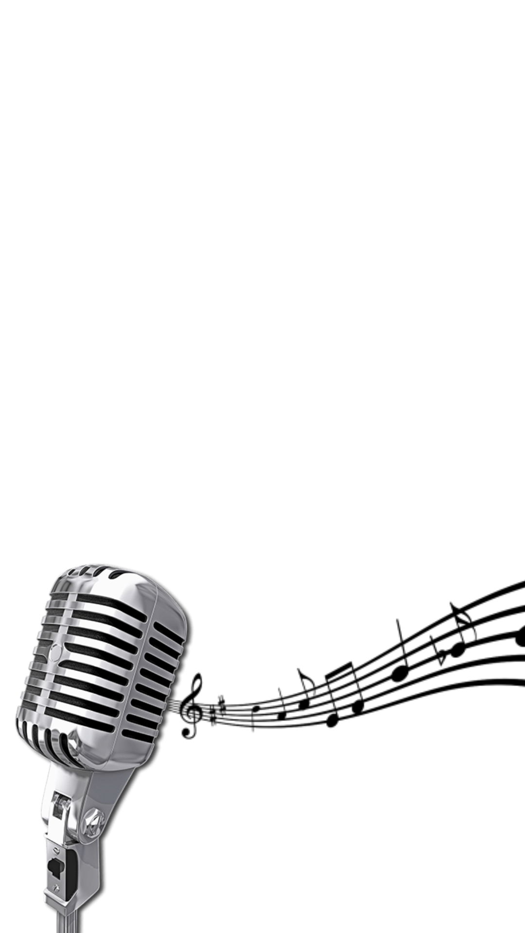 Microphone music notes png. Snapprefs filtermicrophone