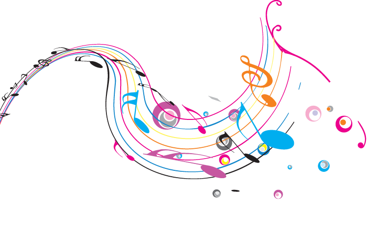Microphone music notes png. Musical note dance illustration