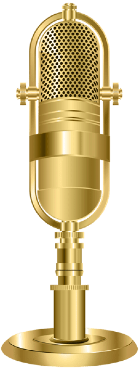 Microphone png gold. Download studio images background