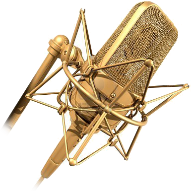 Microphone png gold. Music logo full size