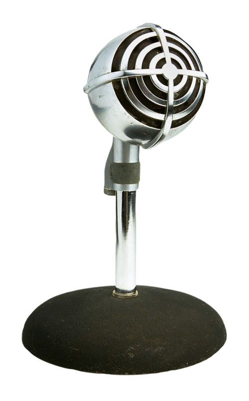 Microphone png image. Retro style pngpix