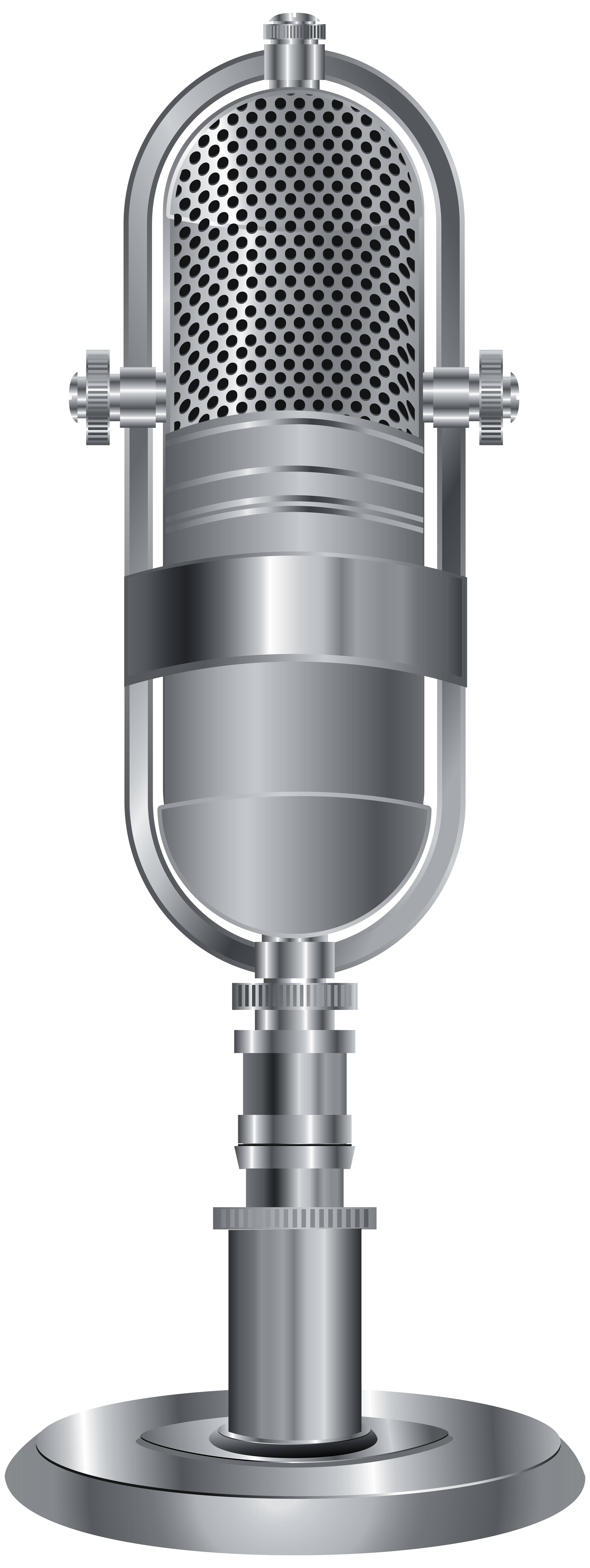 Microphone png silver. Studio clip art image