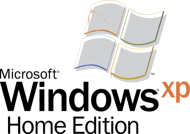 Microsoft windows xp logo png. Home edition in svg