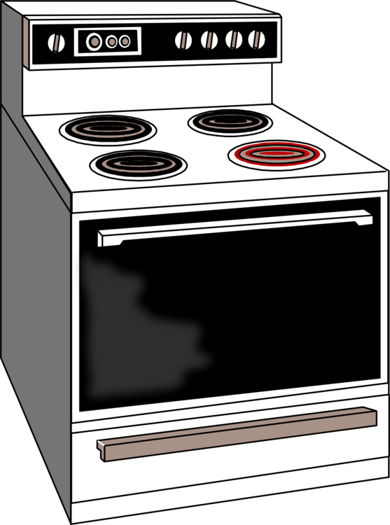 Oven vector cooking range. Ranges microwave ovens home