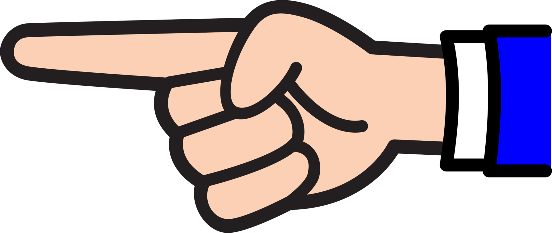 Middle clipart. Index finger point pointing