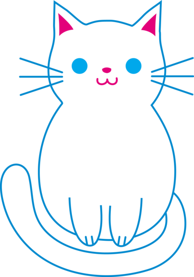 Middle clipart cat. Cute white free clip