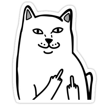 Middle finger meme png. Cat by tendro stickers