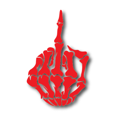 Middle finger png transparent. X six o reflective