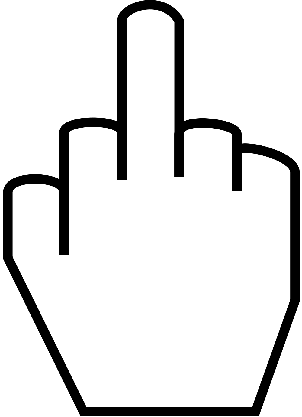 Middle finger silhouette png. File the svg wikimedia