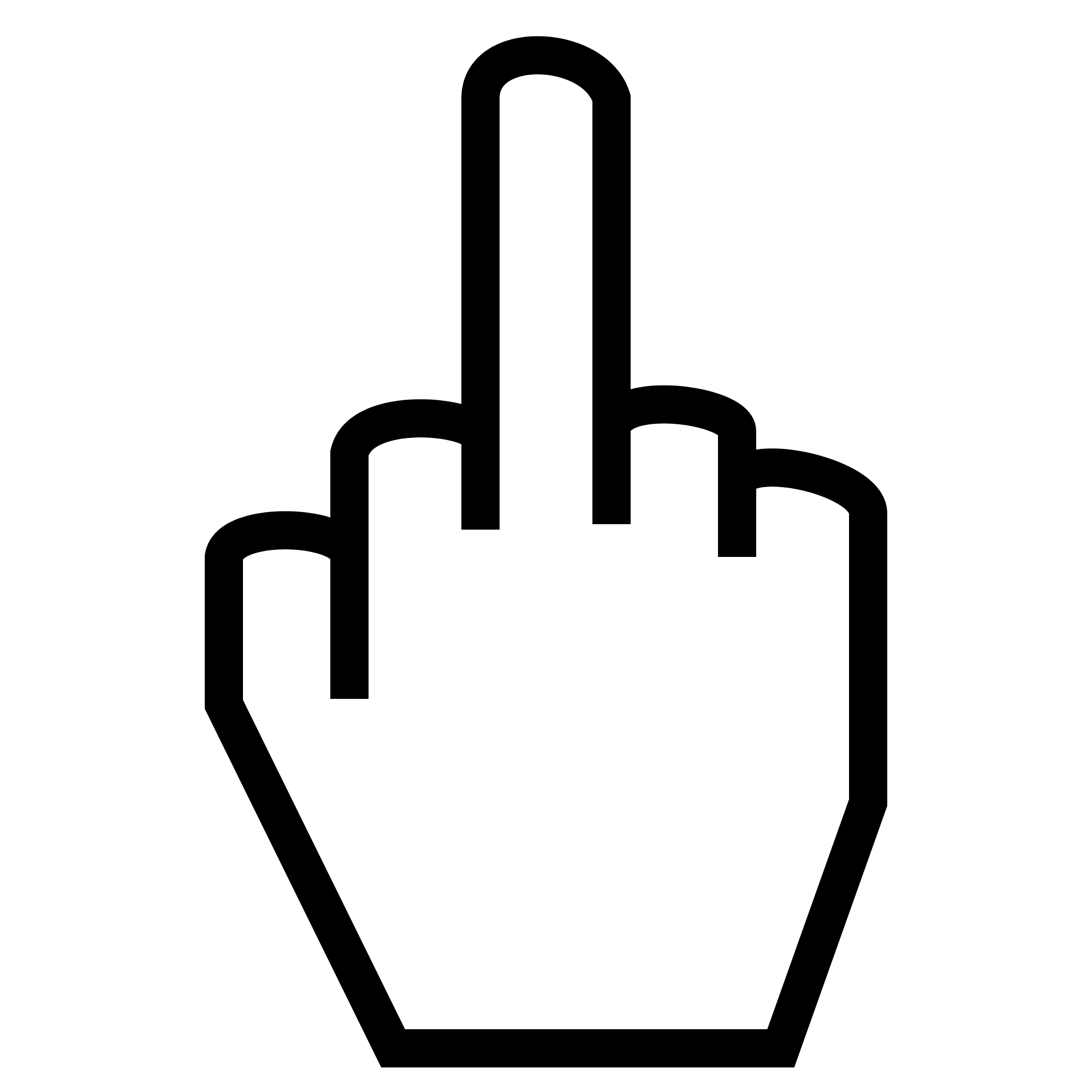 Middle finger silhouette png. File the gesture svg