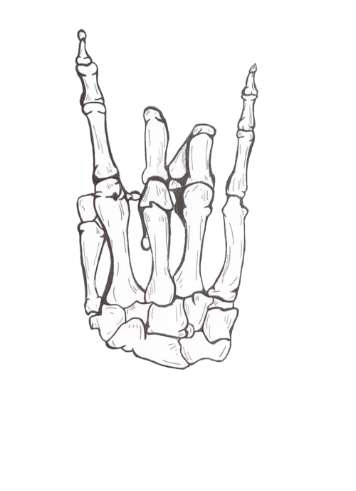 Drawing cool rock awesome. Middle finger skeleton png clipart royalty free stock
