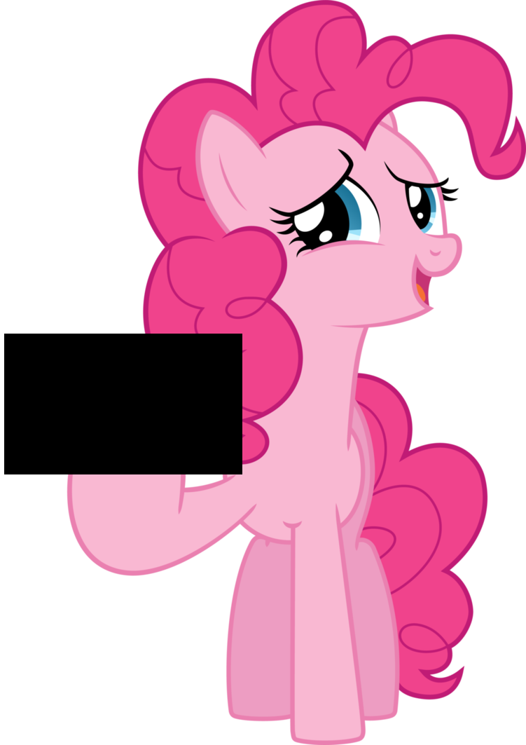 Pinkie pie no png. Censored edit implying
