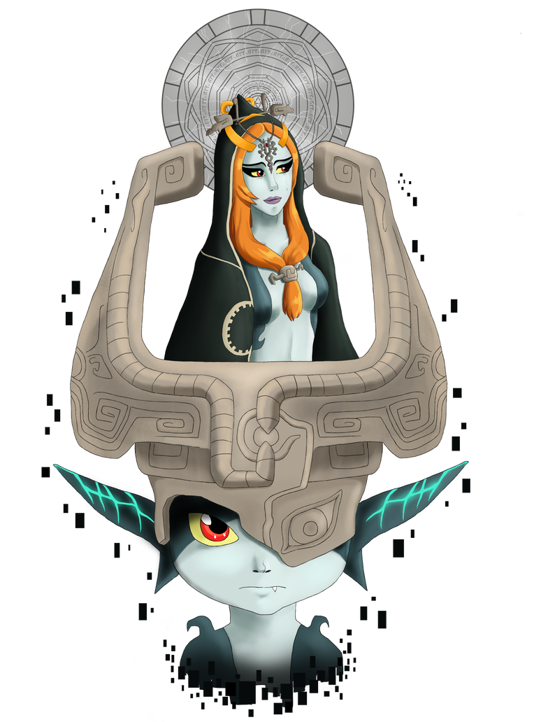 Midna drawing paper. Twilight princess tribute by