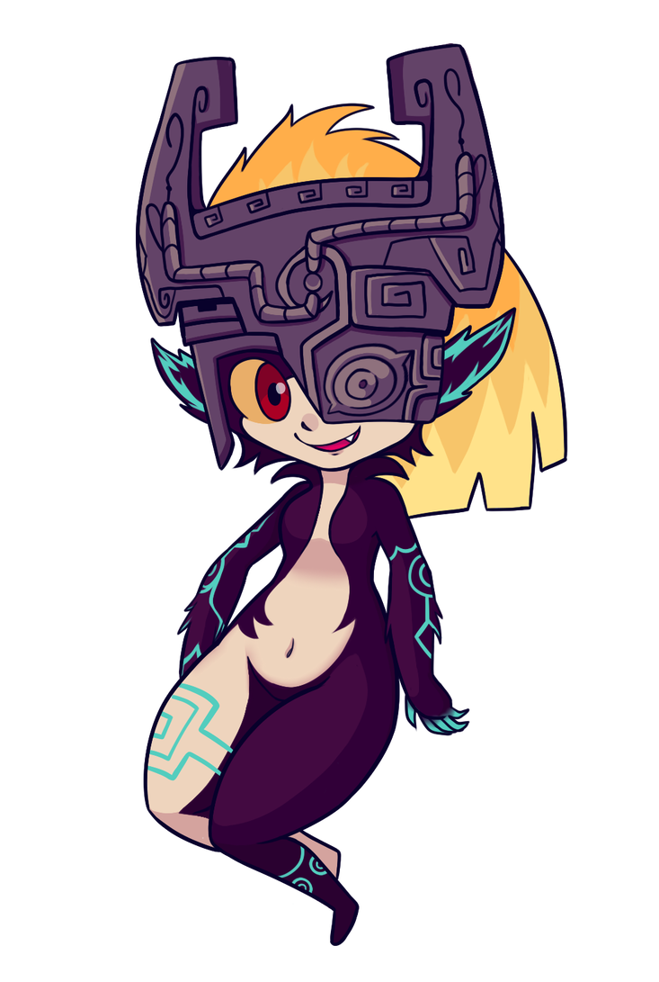 Midna drawing. By kyzacreations on deviantart