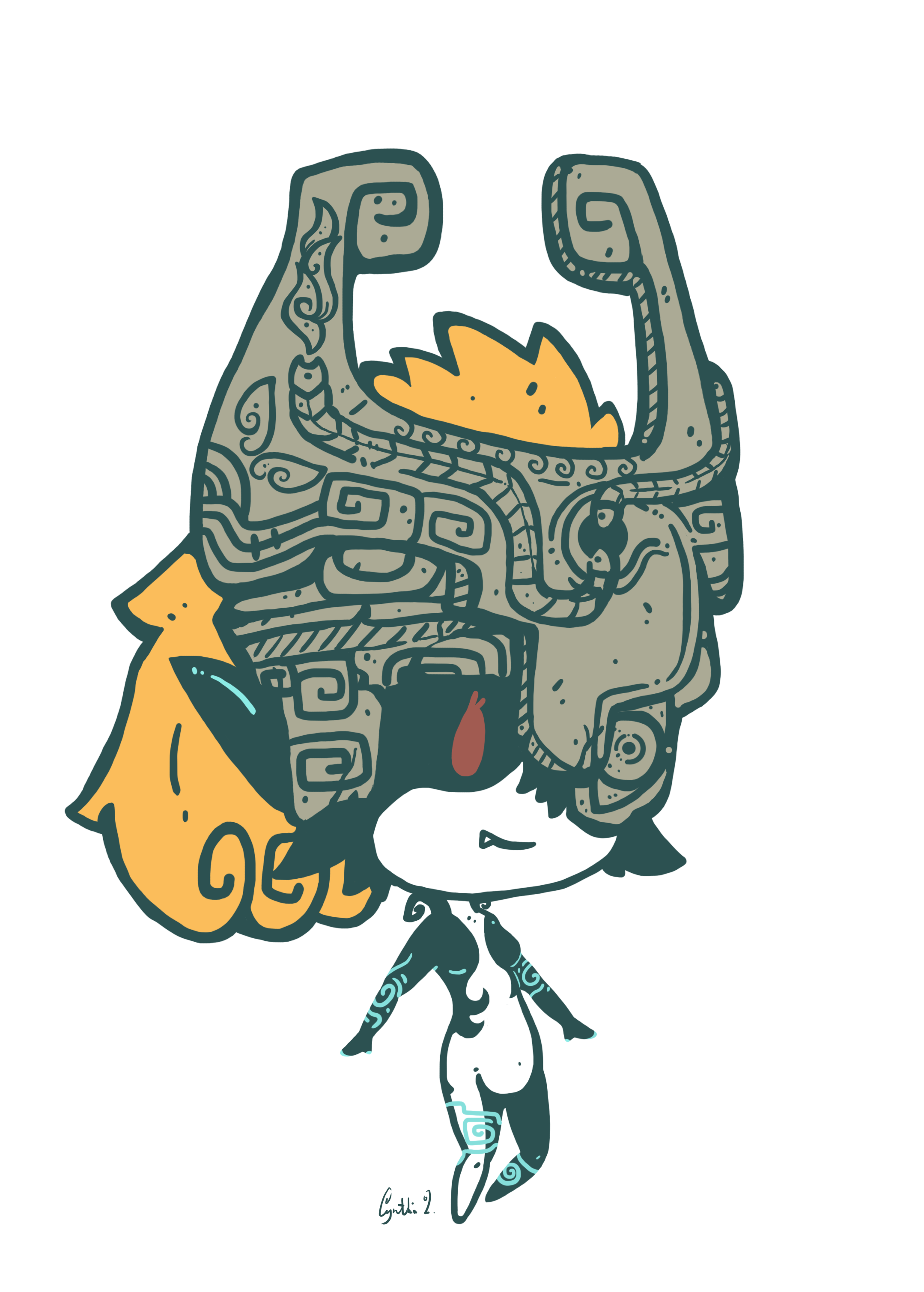 Midna drawing design. From twilight princess made