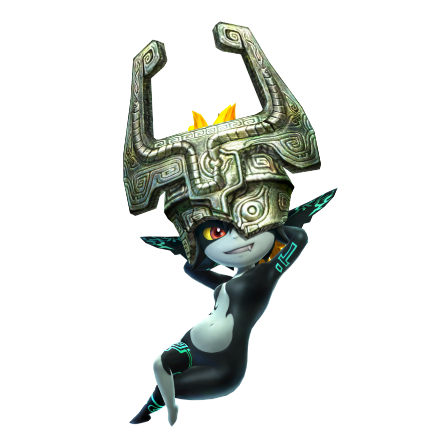 Midna drawing hyrule warriors. Render by kildea on