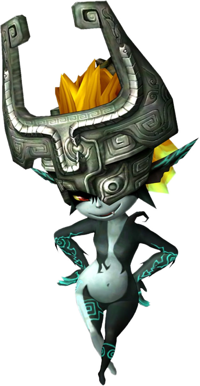 Midna drawing step by. Imp form official art