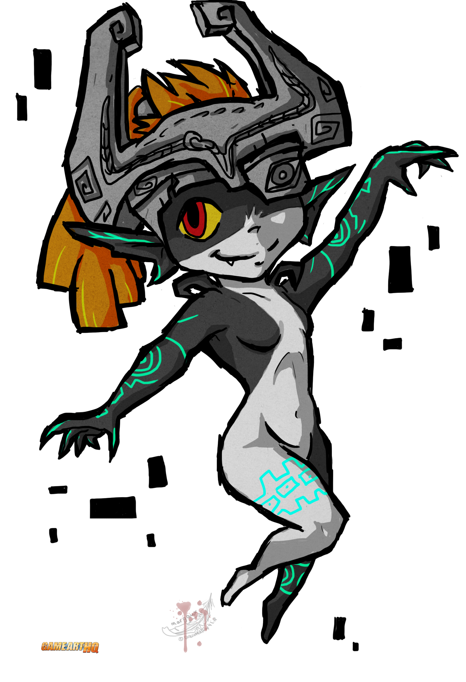 The twilight princess in. Midna drawing jpg transparent