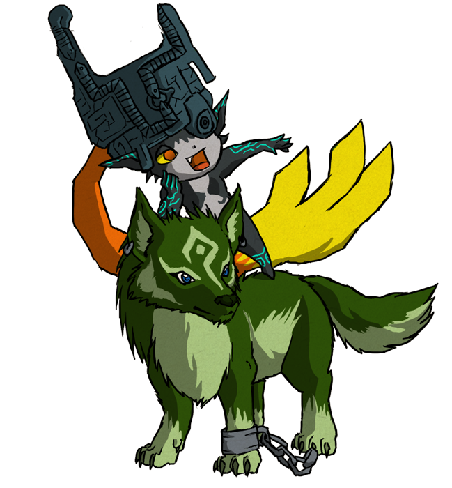 Midna drawing wolf link. And wws by the