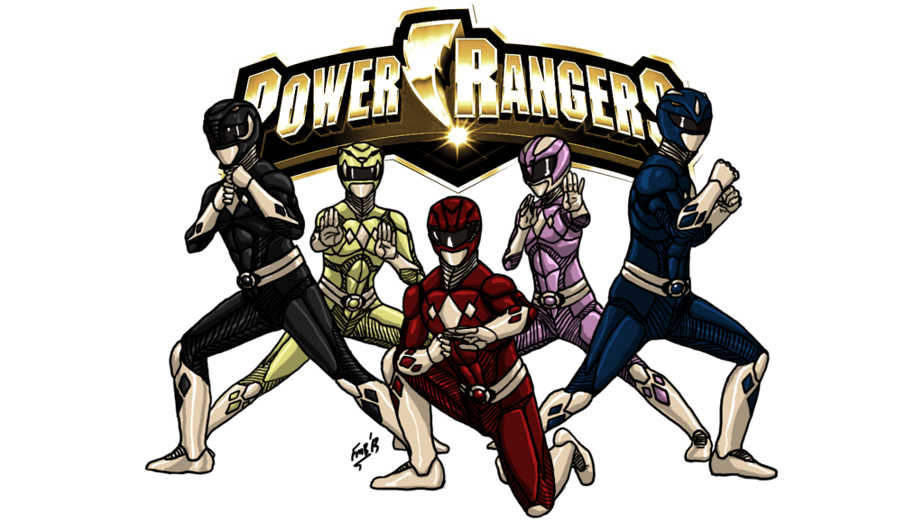 Mighty morphin power rangers png. By kyomusha on deviantart
