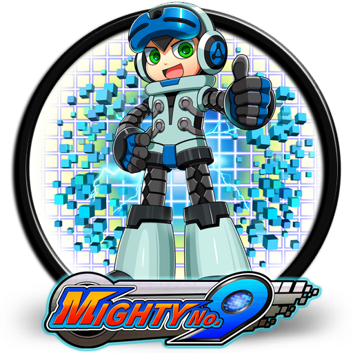 Mighty no 9 logo png. V by saif on