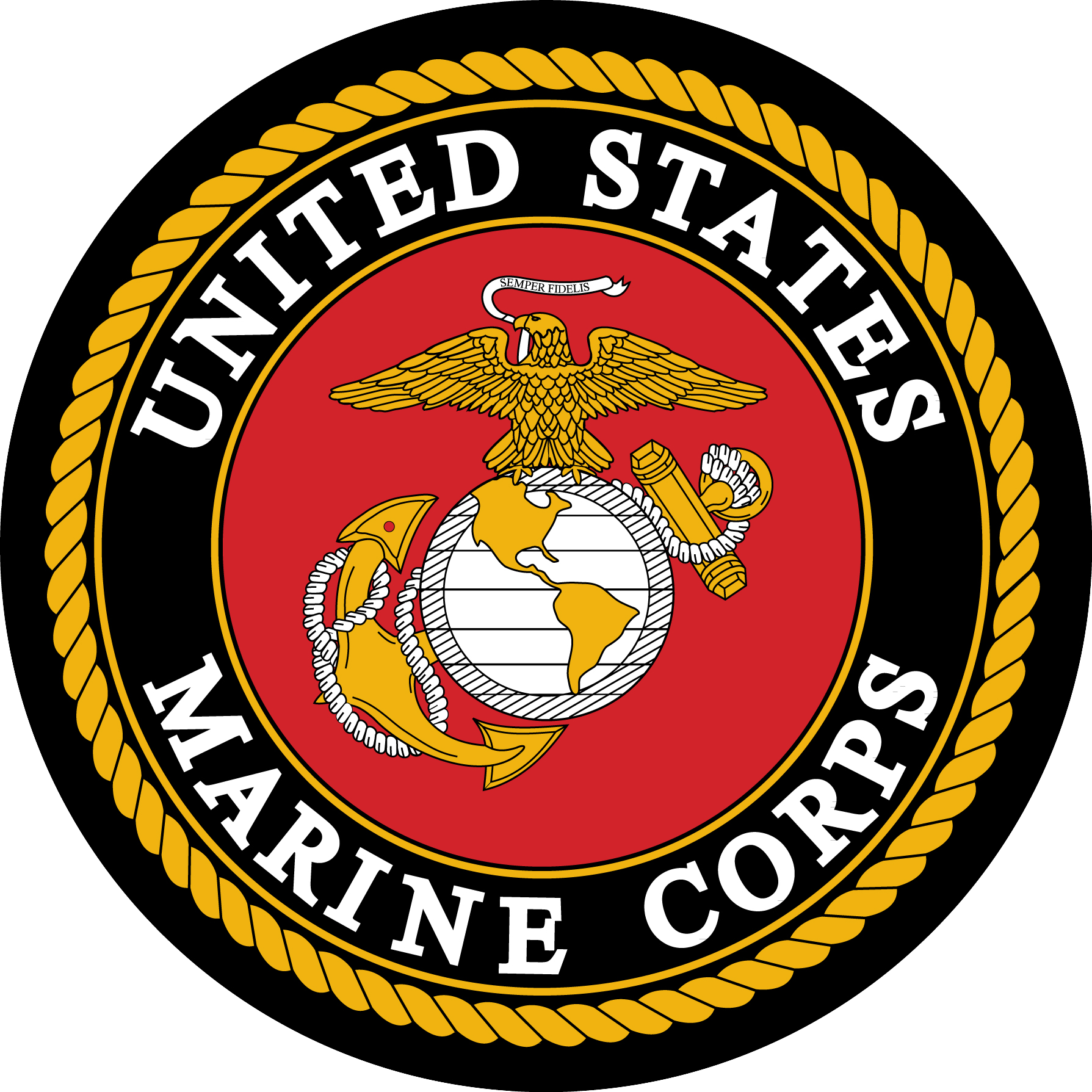 Us marine corps logo. Marines seal png banner transparent stock