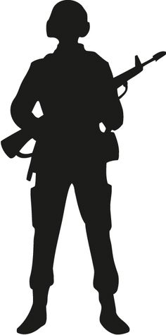 Military clipart army man. Soldier saluting silhouette png