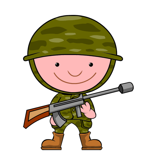 Soldier clipart comic. Free cliparts download clip