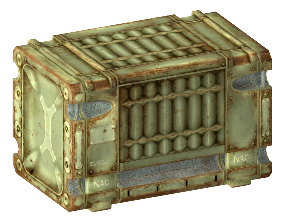 Military crate png. Image nac alpha fallout