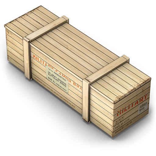 Military crate png. Box army icon size
