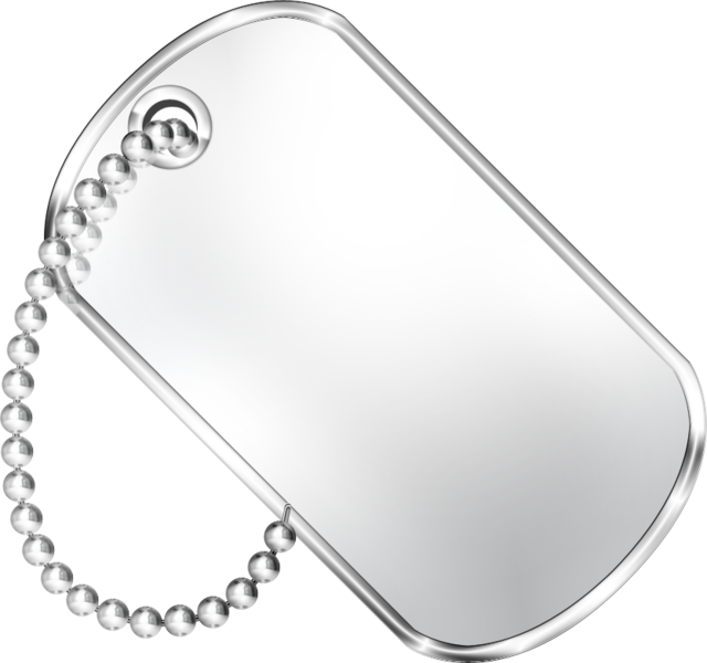 Military dog tag png. Psd official psds share