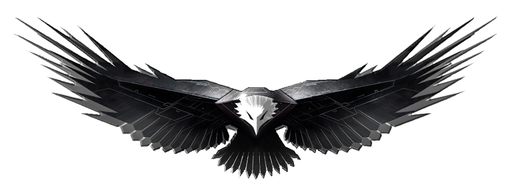 Military eagle png. Eagles design five isolated