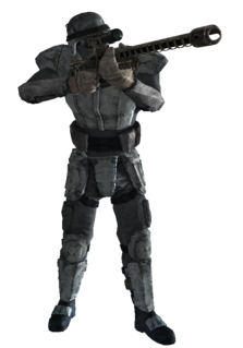 Transparent soldier sniper. American the vault fallout
