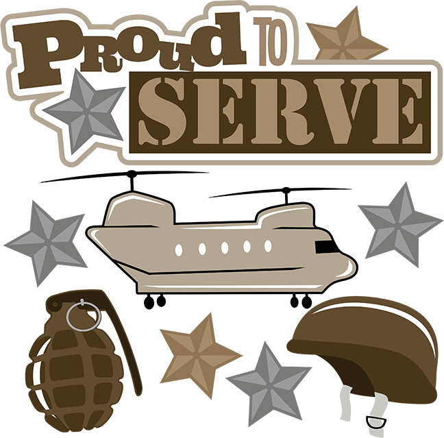 Military svg. Proud to serve scrapbook