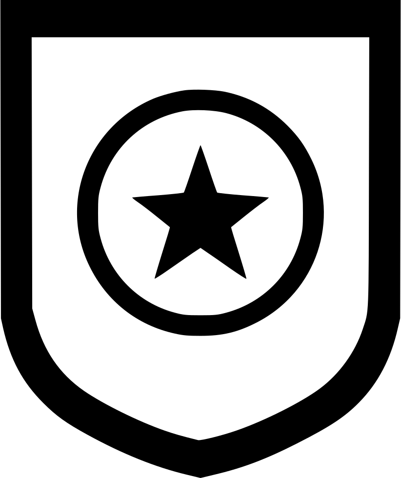Military svg icon. Army shield weapon safety
