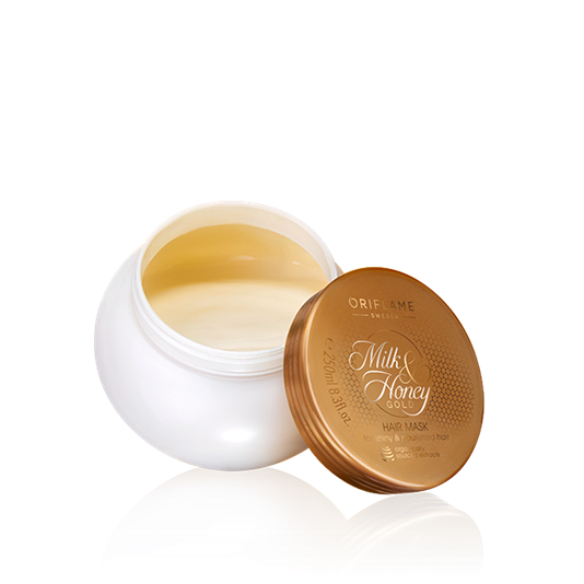 Milk and honey png. Oriflame gold hair mask