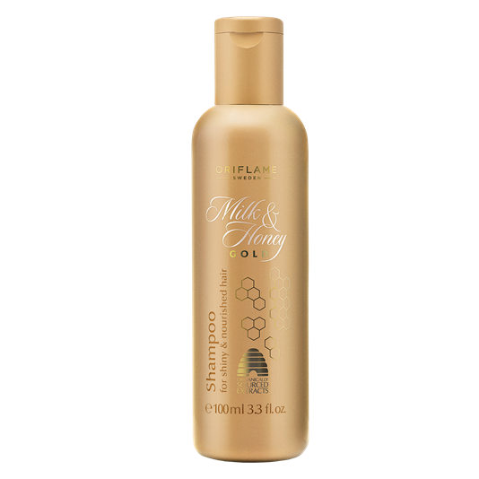Milk and honey png. Gold shampoo by oriflame